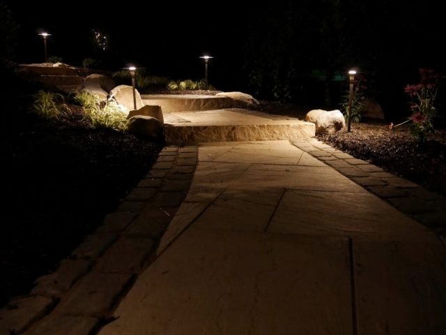 This is a landscape lighting project we recently tackled in harrisburg pa.