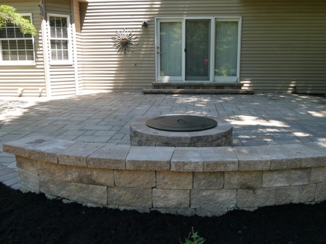 This is an image of a project our retaining wall installation contractors completed in harrisburg pa.