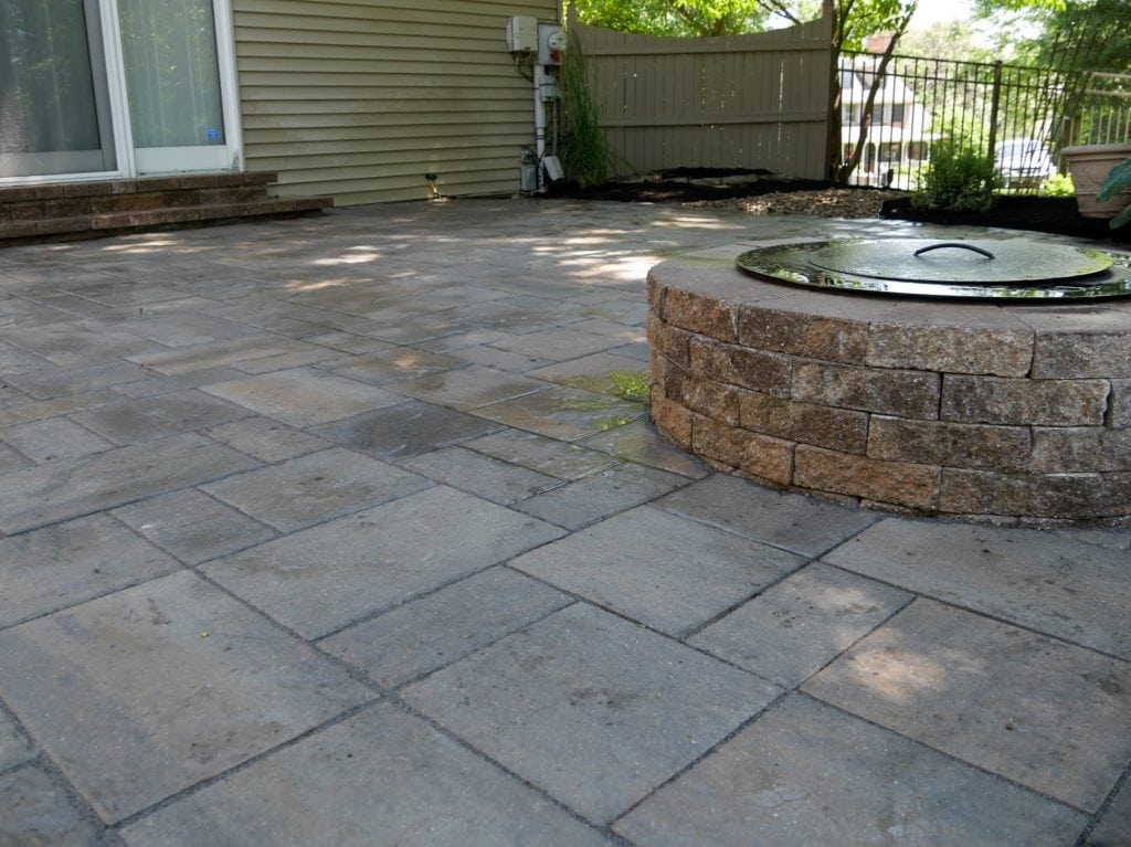 Here is another angle of a stone patio installation we completed in harrisburg pa.